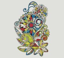 Abstract vector floral and ornamental item background T-Shirt