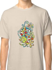 Abstract vector floral and ornamental item background Classic T-Shirt