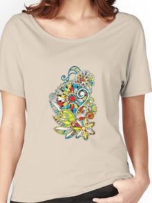 Abstract vector floral and ornamental item background Women's Relaxed Fit T-Shirt