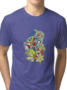 Abstract vector floral and ornamental item background Tri-blend T-Shirt