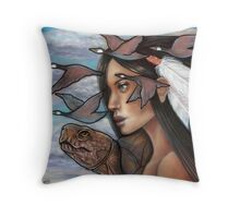 Sky Woman Iroquois Mother Goddess Throw Pillow