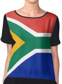 National flag of the Republic of South Africa Authentic version Chiffon Top