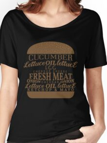 Funny Burger Women's Relaxed Fit T-Shirt