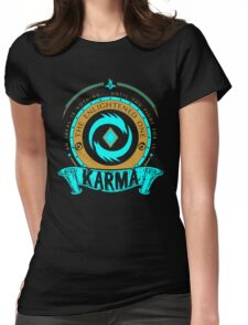 Karma - The Enlightened One Womens Fitted T-Shirt