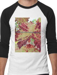 Colorful grape leaf Men's Baseball ¾ T-Shirt