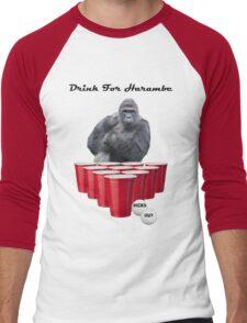 Drink for Harambe Men's Baseball ¾ T-Shirt
