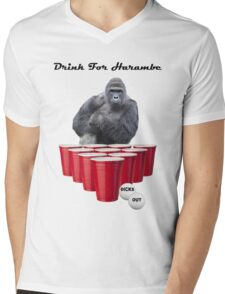 Drink for Harambe Mens V-Neck T-Shirt