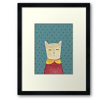 Dreaming cat Framed Print