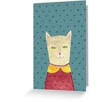 Dreaming cat Greeting Card