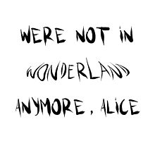 Were not in wonderland anymore, alice by merchedpillows