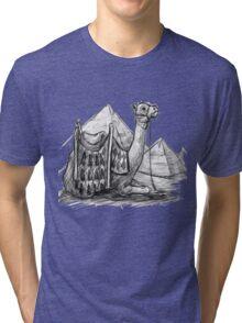 Camel Shirt, Pyramids Shirt Tri-blend T-Shirt