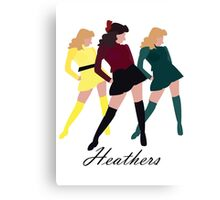 Heathers The Musical Canvas Print