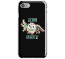 Team Rowlet iPhone Case/Skin
