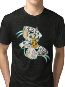 Tattoo Pizza Cat Tri-blend T-Shirt