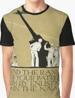 Vintage poster - Enlist in the Navy Graphic T-Shirt
