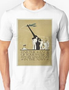 Vintage poster - Enlist in the Navy Unisex T-Shirt