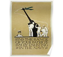 Vintage poster - Enlist in the Navy Poster
