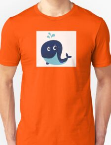 Big blue ocean cartoon whale Unisex T-Shirt