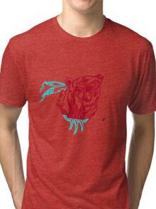 Indian-Style Bear Design Tri-blend T-Shirt