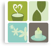 Wellness and relaxation icon pack - tea wellness designers collection Canvas Print