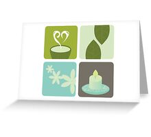 Wellness and relaxation icon pack - tea wellness designers collection Greeting Card
