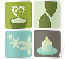 Wellness and relaxation icon pack - tea wellness designers collection Poster