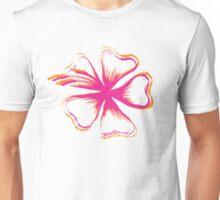 Hawaiian Flower Stencil Unisex T-Shirt
