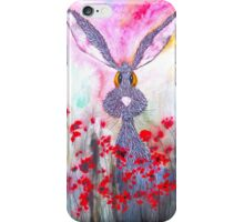 HARE IN POPPIES iPhone Case/Skin