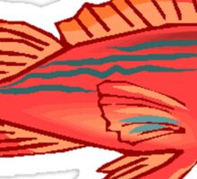 Red Snapper Fish Sticker