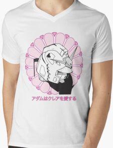 Gundam Buddha Mens V-Neck T-Shirt