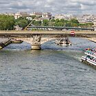 Bridge over the Seine, Paris, France by Elaine Teague