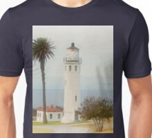 The Lighthouse at Point Vincente California Retro Unisex T-Shirt