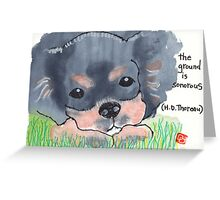 The Sound of the Ground Greeting Card