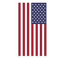 USA - American Flag - iPhone Phone Cover Photographic Print