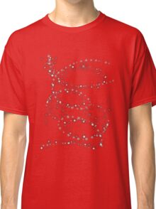 Snowflakes on red  Classic T-Shirt
