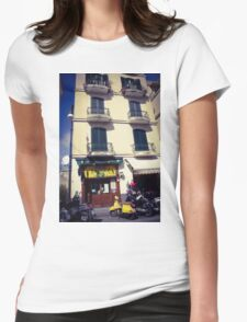 Sorrento street scene Womens Fitted T-Shirt