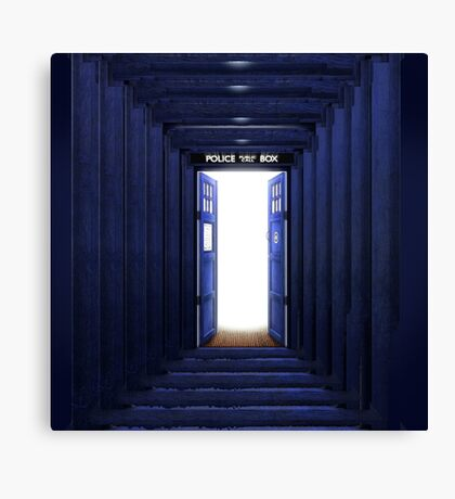 New World in Tardis Canvas Print