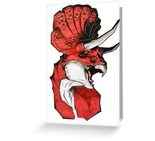 Triceratops (red) Greeting Card