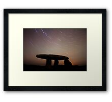 Cornwall Ancient Monument Star Trails Framed Print