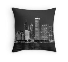 The City Goes to Bed Throw Pillow