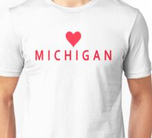 Michigan with Heart Love Unisex T-Shirt