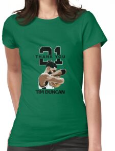 Tim Duncan Retire Womens Fitted T-Shirt