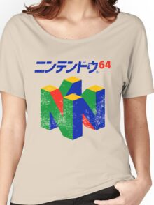 Japanese Nintendo 64 Women's Relaxed Fit T-Shirt