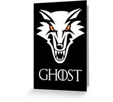 Direwolf Ghost Greeting Card