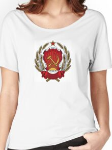 USSR Soviet Union Russia Lenin, Stalin, Coat of Arms Women's Relaxed Fit T-Shirt