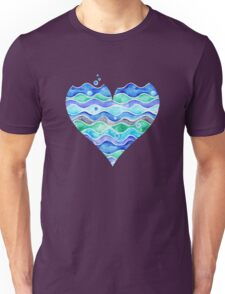 A Sea of Love (white) Unisex T-Shirt