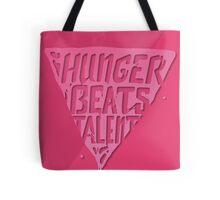 Hunger Beats Talent - Bubble Gum Pink Tote Bag