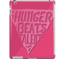 Hunger Beats Talent - Bubble Gum Pink iPad Case/Skin