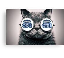 ODU Cat- White Canvas Print