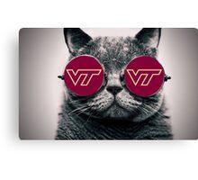 VT Sunglass Cat Canvas Print